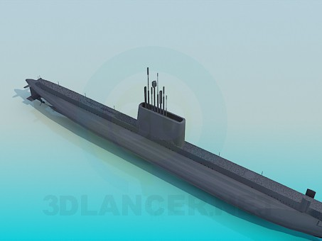 3d modeling Submarine model free download