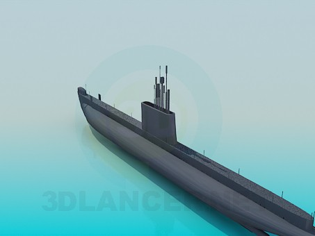 3d model Submarine - preview