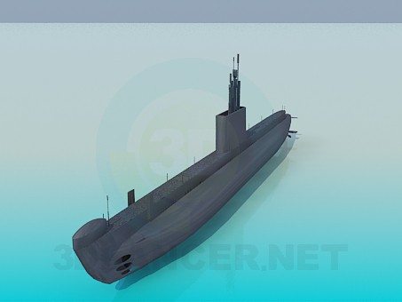 modelo 3D Submarino - escuchar