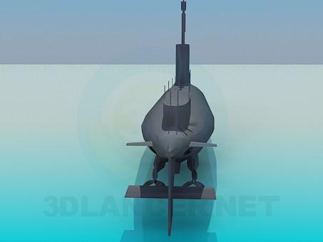 3d модель Підводний човен – превью