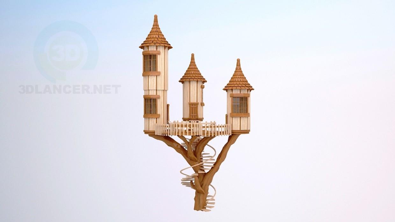modelo 3D El castillo en un árbol - escuchar