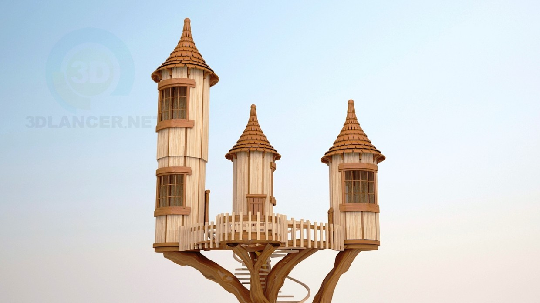 descarga gratuita de 3D modelado modelo El castillo en un árbol