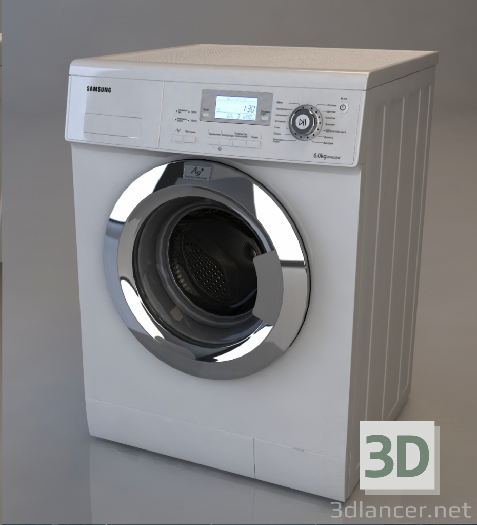 3d Samsung Washing Machine model buy - render