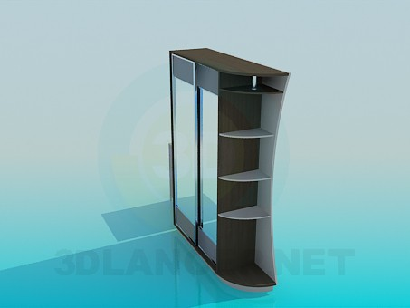 3d model Closet in the hallway with cupboard for shoes - preview