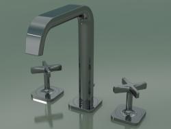 3-hole basin mixer 170 (36108330, Polished Black Chrome)