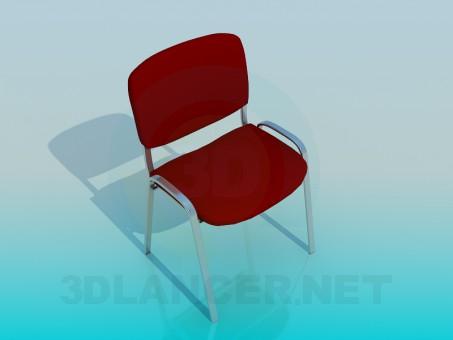 3d модель Стул офисный ISO – превью