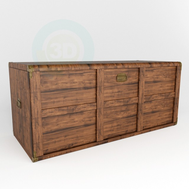 3d model Chest Indiana BRW - preview
