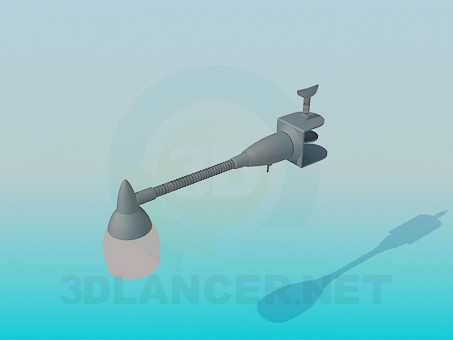 3d model A lamp with a clamp - preview