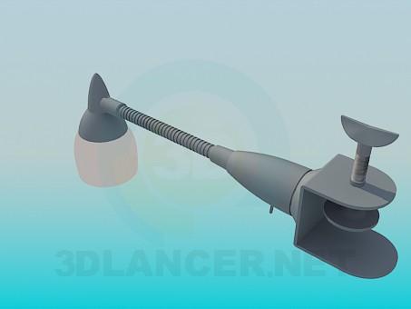 3d модель Лампа с зажимом – превью