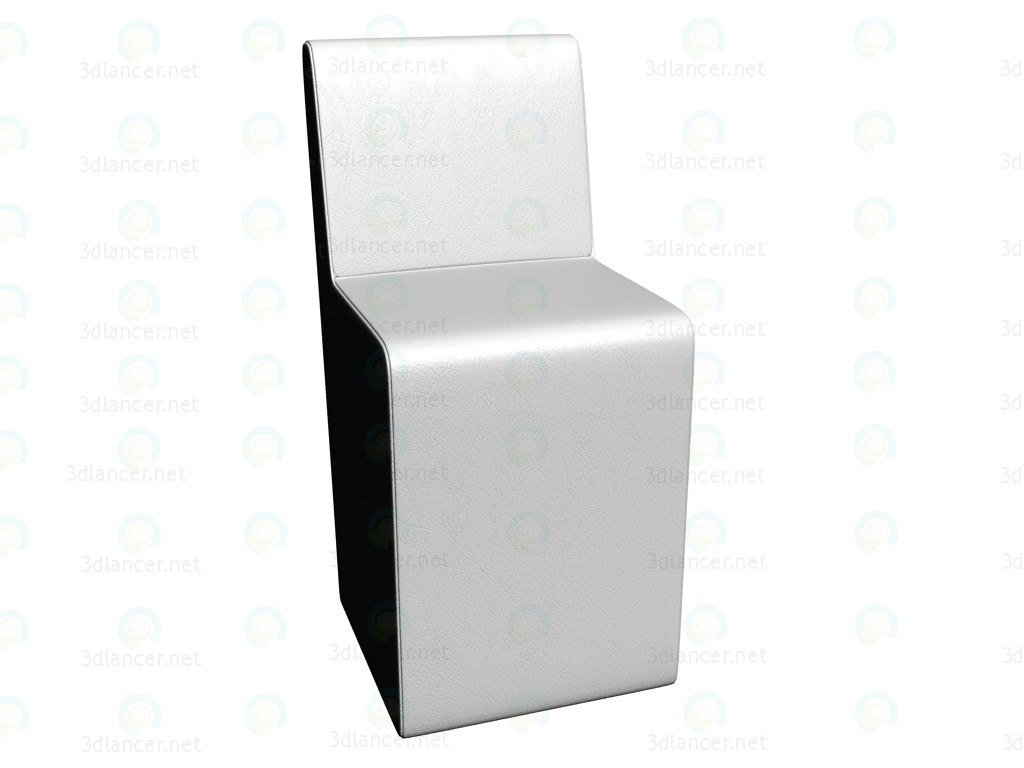 3d model Backrest Chair White - preview