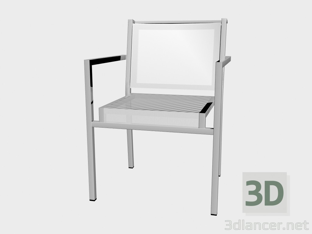 3d model Armchair lunch Porotex Dining Armchair Stackable 1220 - preview