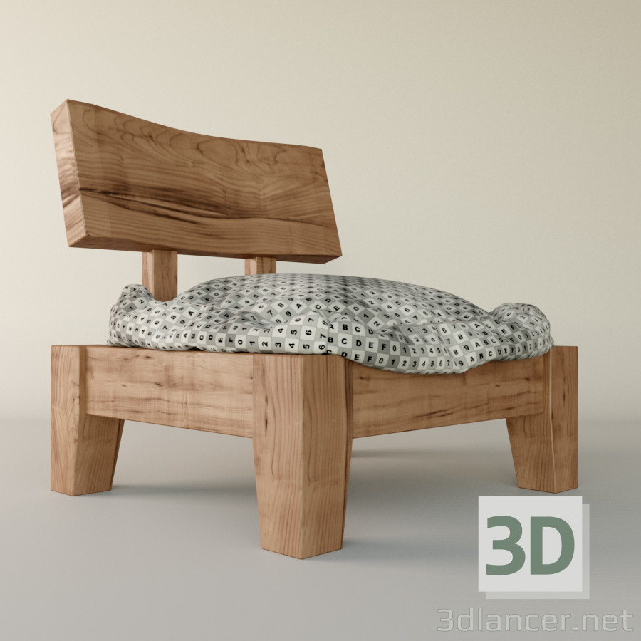 3d Model Japanese Chair   Preview
