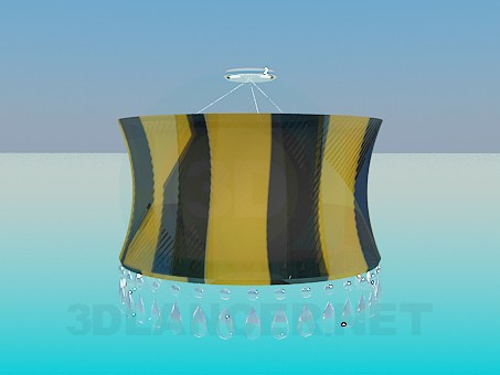 3d modeling Chandelier with lampshade model free download
