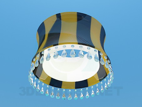 3d model Chandelier with lampshade - preview