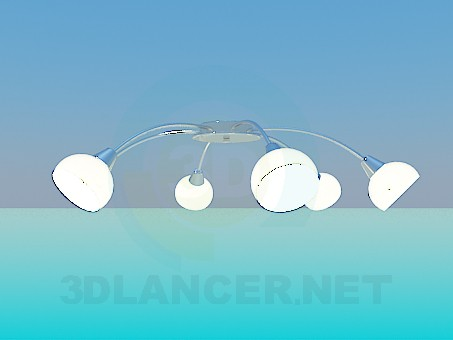 3d model Ceiling chandelier - preview