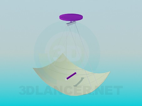 3d model The lamp in the form of a sheet of paper - preview