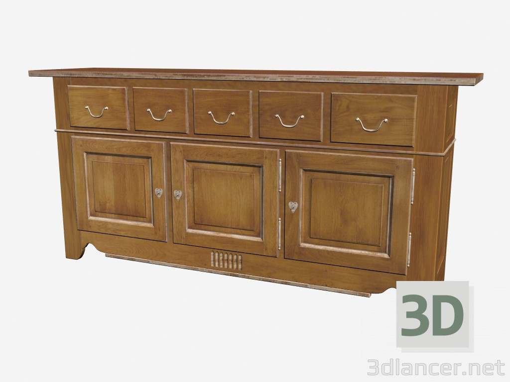 3d model classic buffet ch003 manufacturer grange id 16670. Black Bedroom Furniture Sets. Home Design Ideas