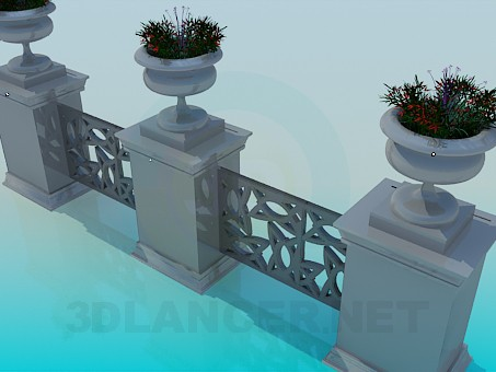 3d model Fencing - preview