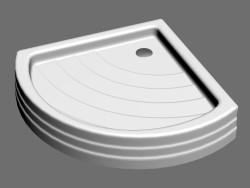 Shower tray RADIUS 90 PU