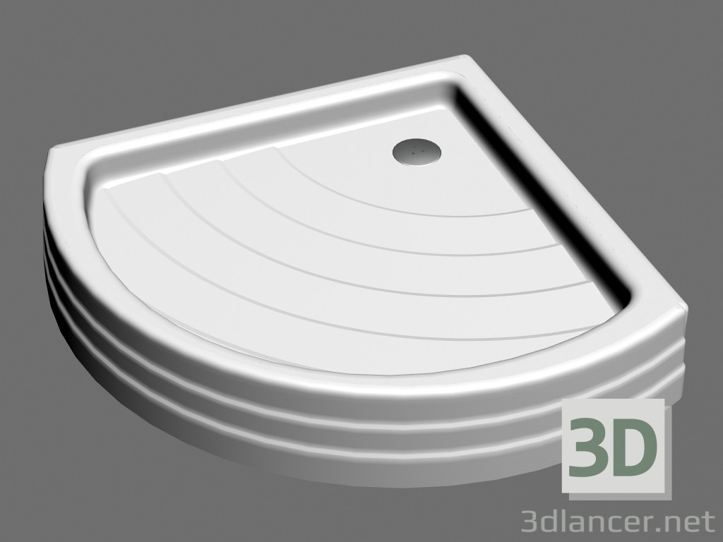 3d model Shower tray RADIUS 90 PU,Ravak max(2012), - Free