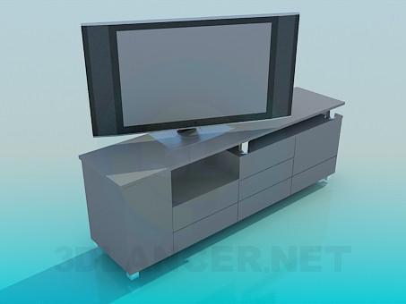 3d модель Тумбочка под телевизор – превью