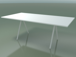 Table rectangulaire 5411 (H 74 - 99x200 cm, stratifié Fenix F01, V12)