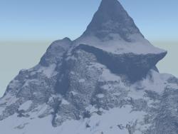Snow cliffs