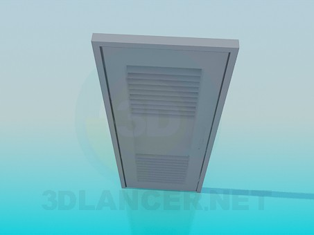 3d model Door with venetian blind - preview
