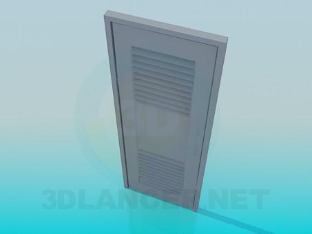3d model Door with venetian blind - preview