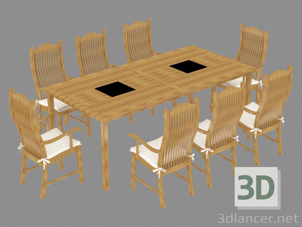 3d model a set of garden furniture manufacturer alexander rose id 19672. Black Bedroom Furniture Sets. Home Design Ideas