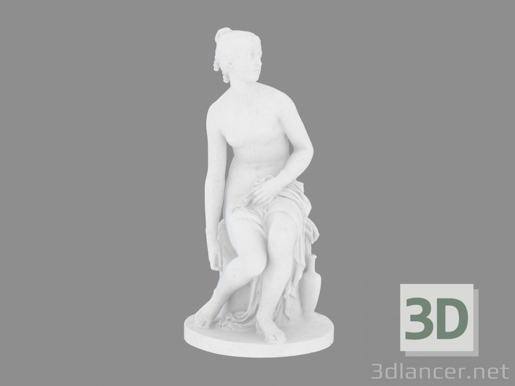 3d model Sculpture from marble Nymph Untying Her Sandal,British