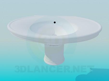 modelo 3D Lavabo oval - escuchar