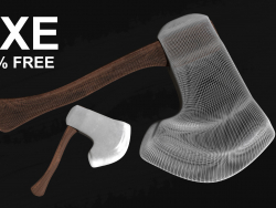 AXE Model with texture
