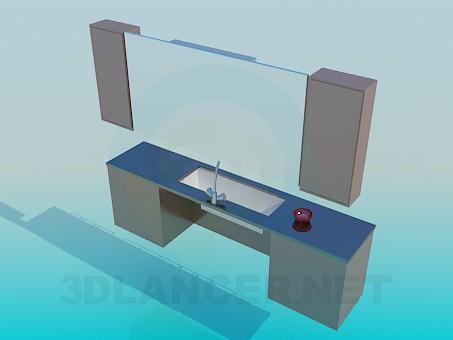 3d модель Умывальник в комплекте – превью