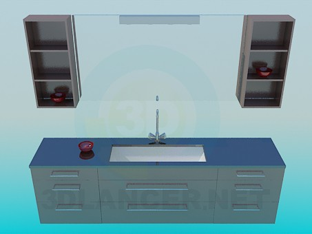 3d model Washstand complete - preview