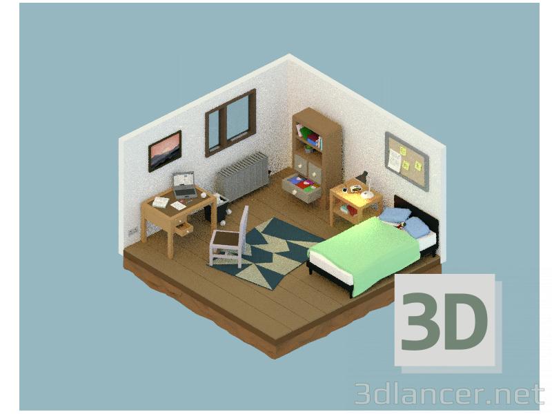 3 डी मॉडल संख्या - पूर्वावलोकन