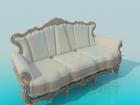 3d modeling Baroque sofa model free download