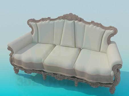 3d модель Софа в стиле барокко – превью