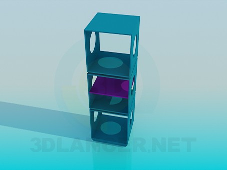3d model Shelves with circular cutouts - preview