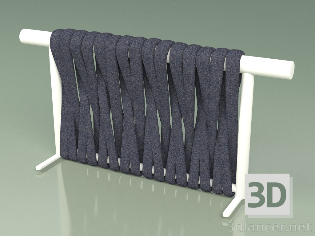 3d model Backrest of sofa module 211 (Metal Milk, Gray-Blue Belt) - preview