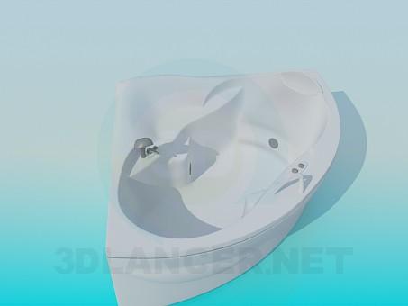 3d моделювання Кутова ванна-джакузі модель завантажити безкоштовно