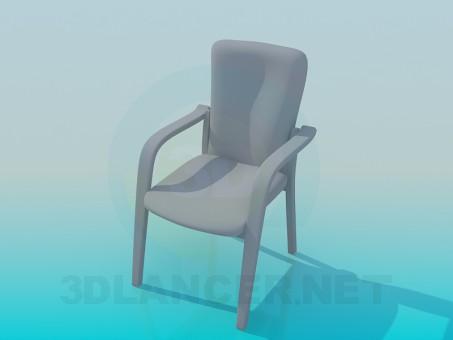 modelo 3D СТУЛ - escuchar