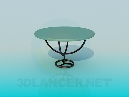 3d modeling Cafe table model free download