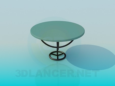 3d model Cafe table - preview