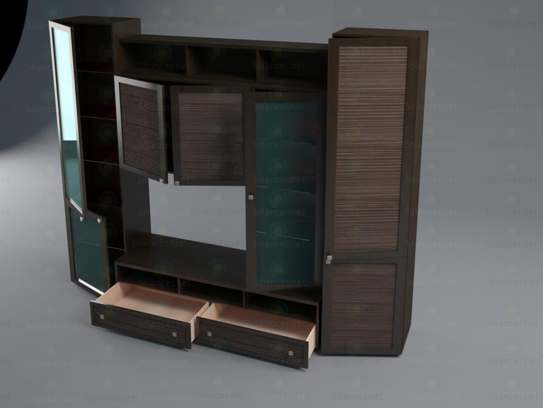 3d Гостиная Фиджи модель купить - ракурс