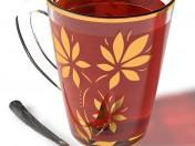 Taza con té.