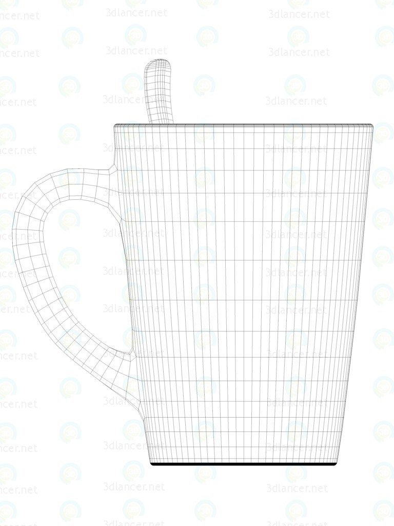 3d Mug with tea. model buy - render