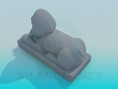 modelo 3D Esfinge - escuchar