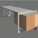 3d модель Офисный стол – превью