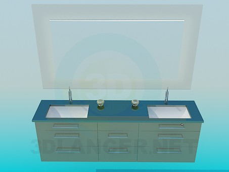 3d modeling Set of two basins model free download